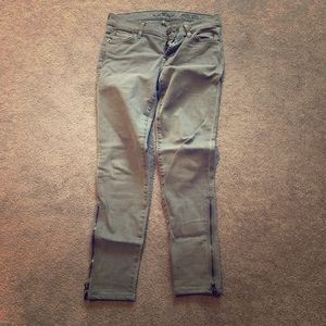7 for all mankind gray skinny jeans 24